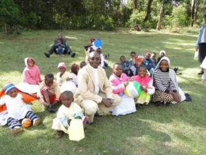 Fr Githingo With Children of St Barnabas Orthodox Mission- Education centre